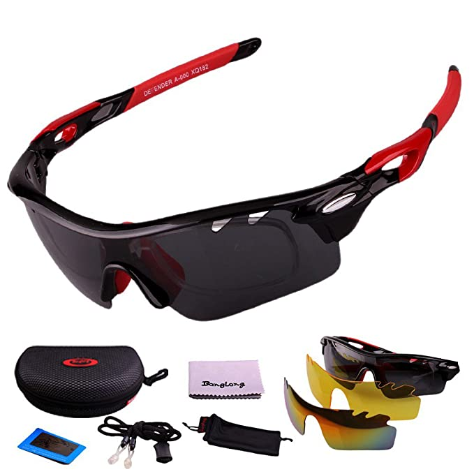 d050d975709 Image Unavailable. Image not available for. Colour  Polarized Sports Men  Sunglasses Road Cycling Glasses Mountain Bike Bicycle Riding Protection  Goggles ...