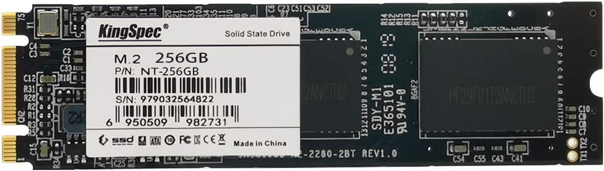 KingSpec 256GB M.2 SSD 2280 SATA III 6 Gb//s 3D NAND NGFF Internal Solid State Drive NT-256