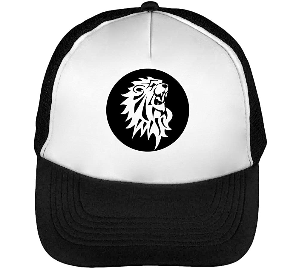 Black Lion Vector Graphic Mens Baseball Trucker Cap Hat Snapback ...