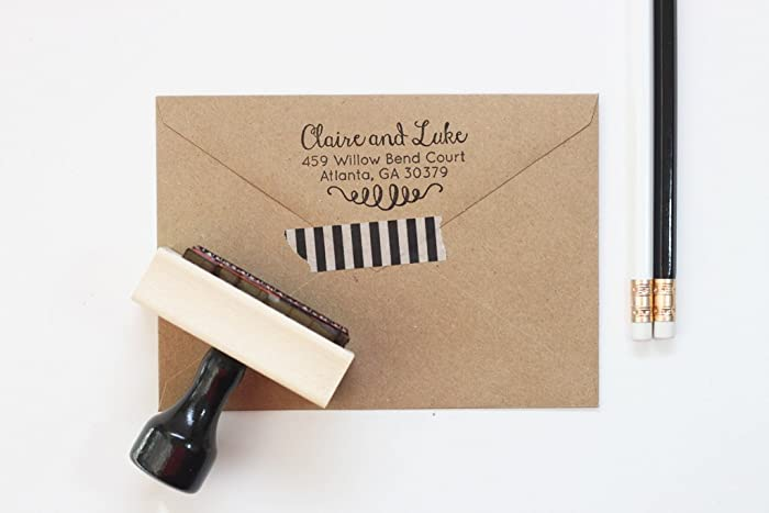 amazon com return address stamp modern personalized stamp for men