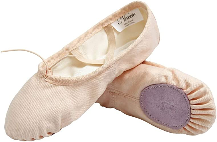 Children Adult Canvas Split Sole Ballet Dance Shoes Pointe Slippers ALL Size