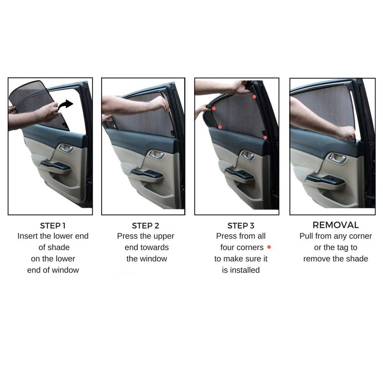 Volvo XC60 2018 2019 Seitenfenster Innenmagnet Adsorptionsanlage Sonnenschutz Verdunkelungsvorhang Einwegperspektive Isolierung Atmungsaktiv Anti-Moskito YEE PIN Auto Sonnenschutzrollos 6 st/ück