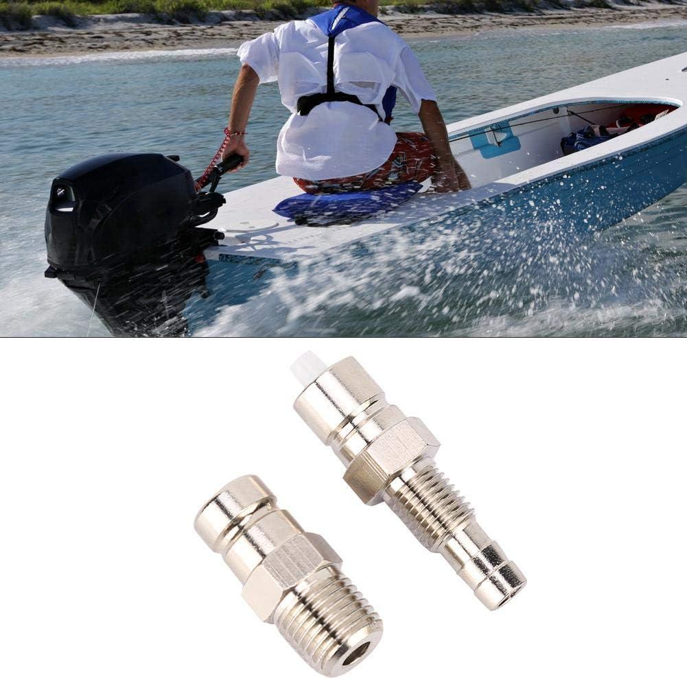Akozon Outboard Fuel Connector 2PCS Boat Marine Outboard Fuel Connector Male 3E0-40270-0 3B2-70260-1 for Tohatsu