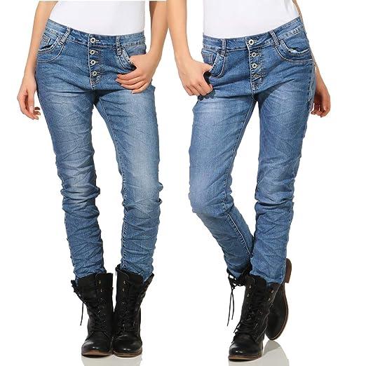 Karostar Pantalones Vaqueros Chino Baggy Pantalón de Mujer ...