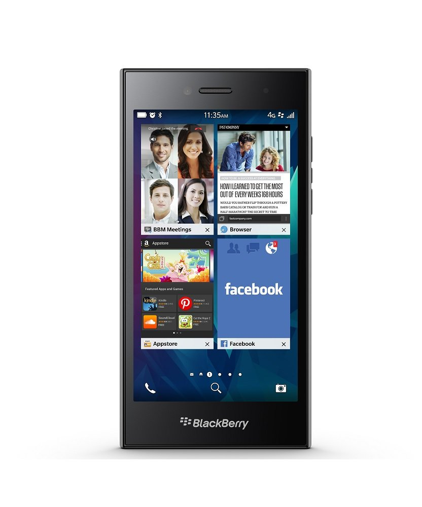 BlackBerry Leap 16GB Factory Unlocked GSM 4G LTE Smartphone - Shadow Grey by BlackBerry (Image #1)