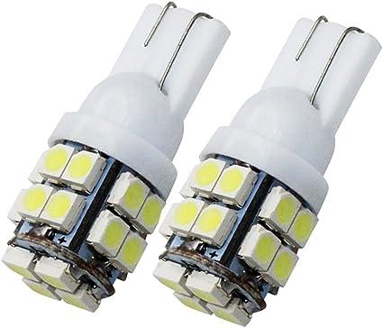 10PCS 20SMD LED Bulb T10 W5W 194 168 2825 Car Auto Side Wedge Light 12V White