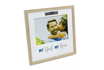 Personalised Gift For Dad My Dad My Hero Photo Frame Gift Amazon