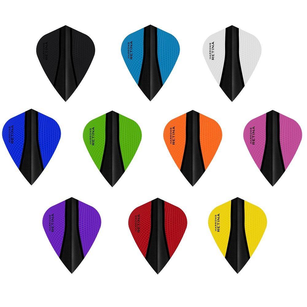 10 x Sets Harrows Retina X Mixed Colour Dart Flights Kite PerfectDarts