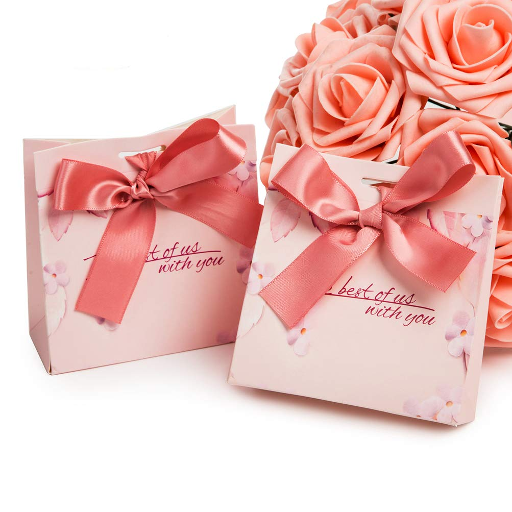 Amazon.com: Gift Candy Bag 5x2x5 inches with Ribbon Wedding Party ...