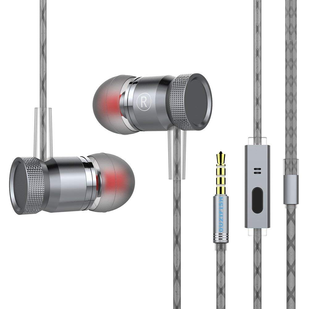 Earbuds In-ear Wired Earphones with Microphone Noise Cancelling Headphones for iPhone iPad iPod Samsung Galaxy and Mp3 players
