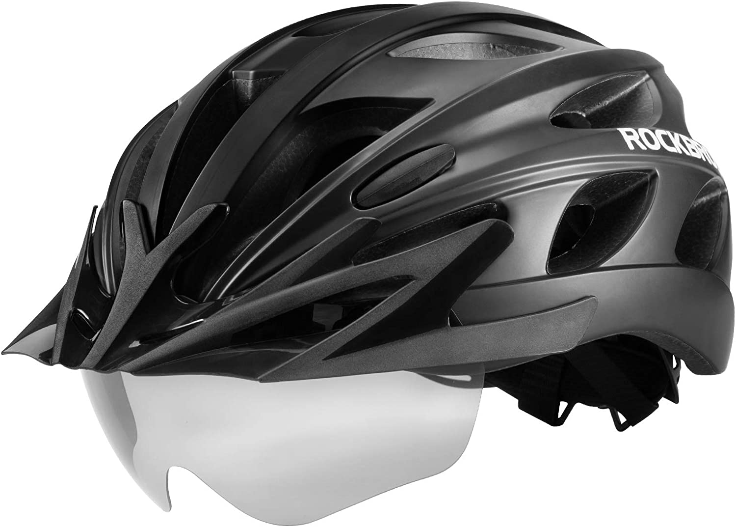 Color : Pink, Size : One Size Bicycle Helmet Bicycle Helmet Detachable Goggles Sun Visor Ladies Men Adjustable Comfort Safety Bicycle Helmet Outdoor Sports Cycling