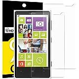 Pack de 2 Verre Trempé Nokia Microsoft Lumia 1020, NEWC® Film Protection en Verre trempé écran Protecteur vitre ANTI RAYURES SANS BULLES D'AIR Ultra Résistant Dureté 9H pour Nokia Lumia 1020