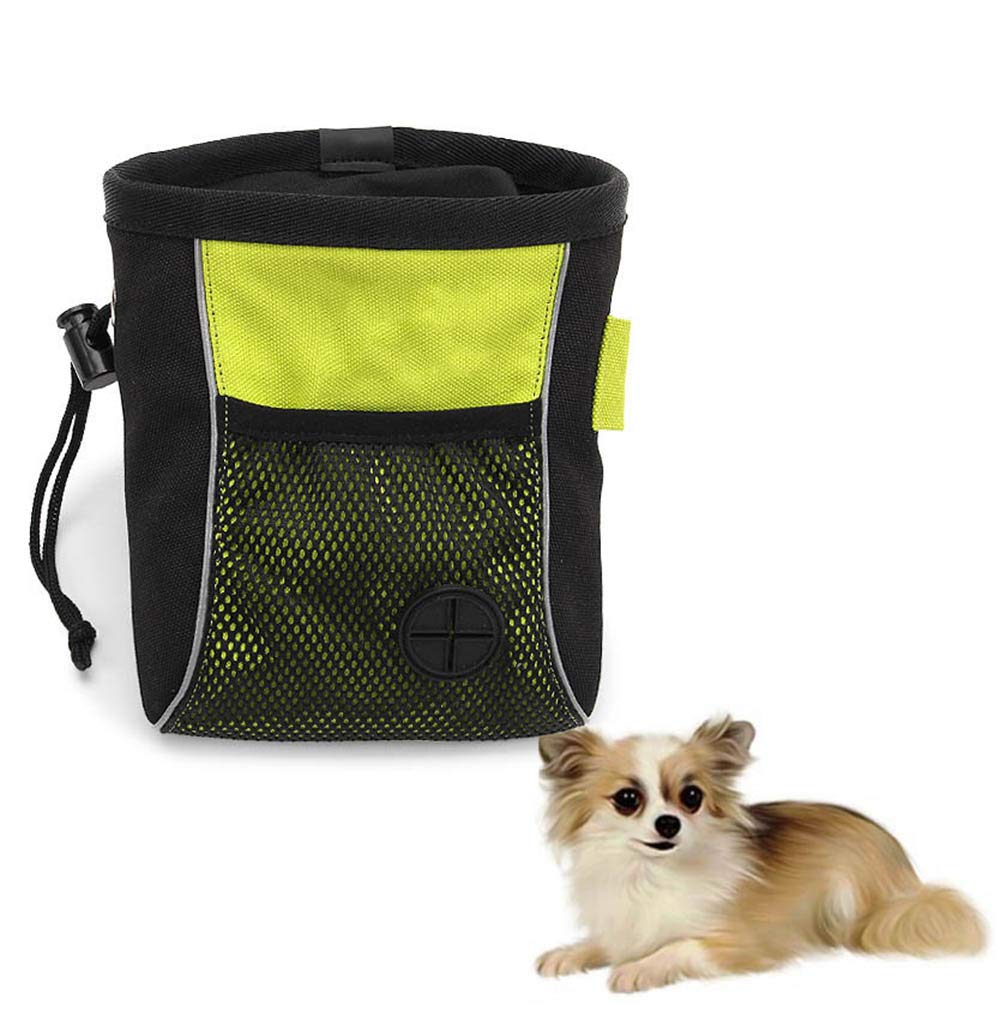 CWH&WEN Pet Dog Training Treat Snack Bait Dog Obedience Agility Outdoor Pouch Food Bag Dogs Snack Bag Pack Pouch, High-Capacity,Wipe-Clean Waterproof Lining,M by CWH&WEN