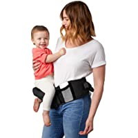 TushBaby The Only Safety Certified Hip Seat Baby Carrier - Large Storage Pockets, Adjustable, Machine Washable, Ergonomic Child + Infant + Toddler Carrier, Safe + Ultra-Comfortable Waist Carrier