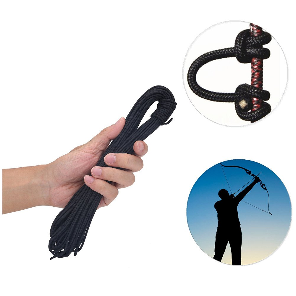 20m Archery Compound Bow D-Loop Durable Wire String Nylon Nock Safe Release D Loop Accessory
