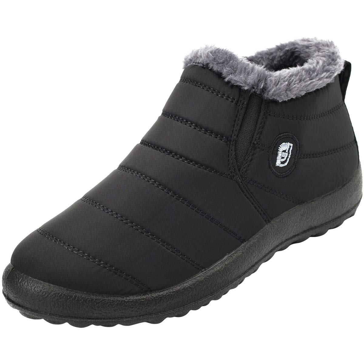 JOINFREE Womens Waterproof Winter Shoes Fur Lining Snow Boots for Women Black 8.5 M by JOINFREE