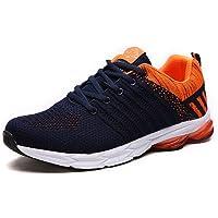 Heren Trainers Casual Lichtgewicht Mesh Loopschoenen Sport Gym Outdoor Lace up Ademend Sneakers Blauw Groen Grijs Oranje…