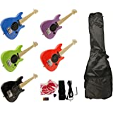 "Child's Toy 30"" Electric Guitar w/ Built-in Amp - Includes Case & Acc. Kit (Green)"