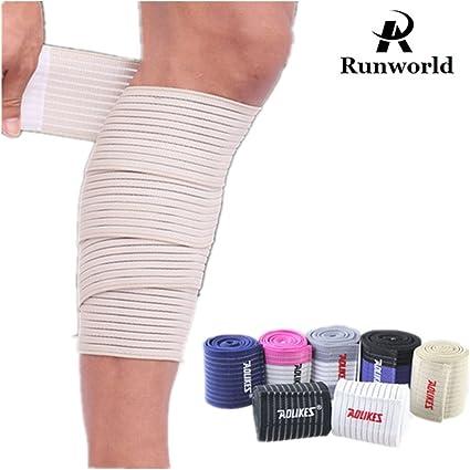 Amazon Com Runworld 1 Pair Elastic Calf Shin Compression Bandage