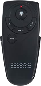Wave Decoration UC7083T Replacement Remote Control fit for Hampton Bay Harbor-Breeze Home Decorators Collection Ceiling Fan Wireless Remote with Remote Control Mount Without Reverse Function Black