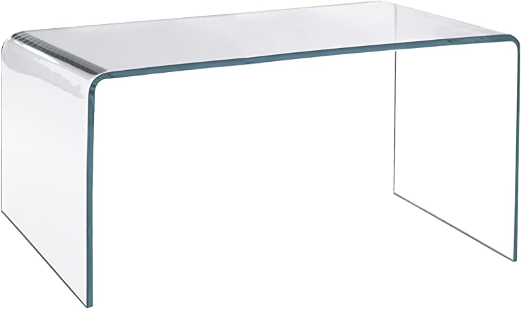 Table Basse De Salon En Verre Acrylique Transparent Amazon Fr Cuisine Maison