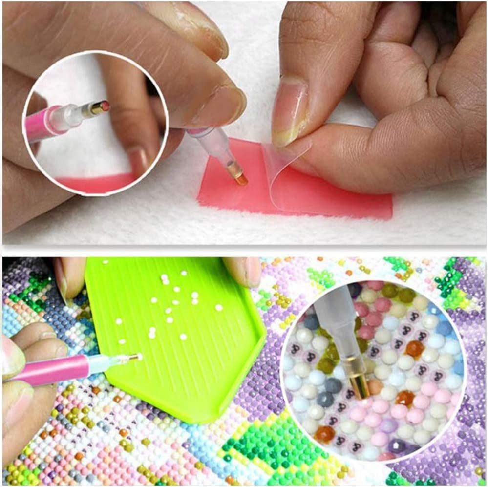 Tweezers Tray Wax Pieces Diamond Painting Kits for Adults with Box Diamond Painting Tool Kit Drill Pen 20pcs//Set Heiqlay 5D Diamond Painting Accessories Tension Bag for Diamonds Art Craft
