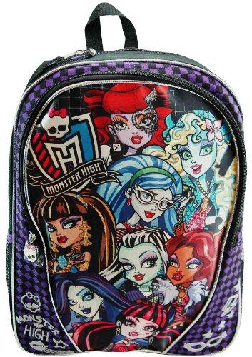"Monster High 16″ Large School Backpack ""Monster High"", Bags Central"