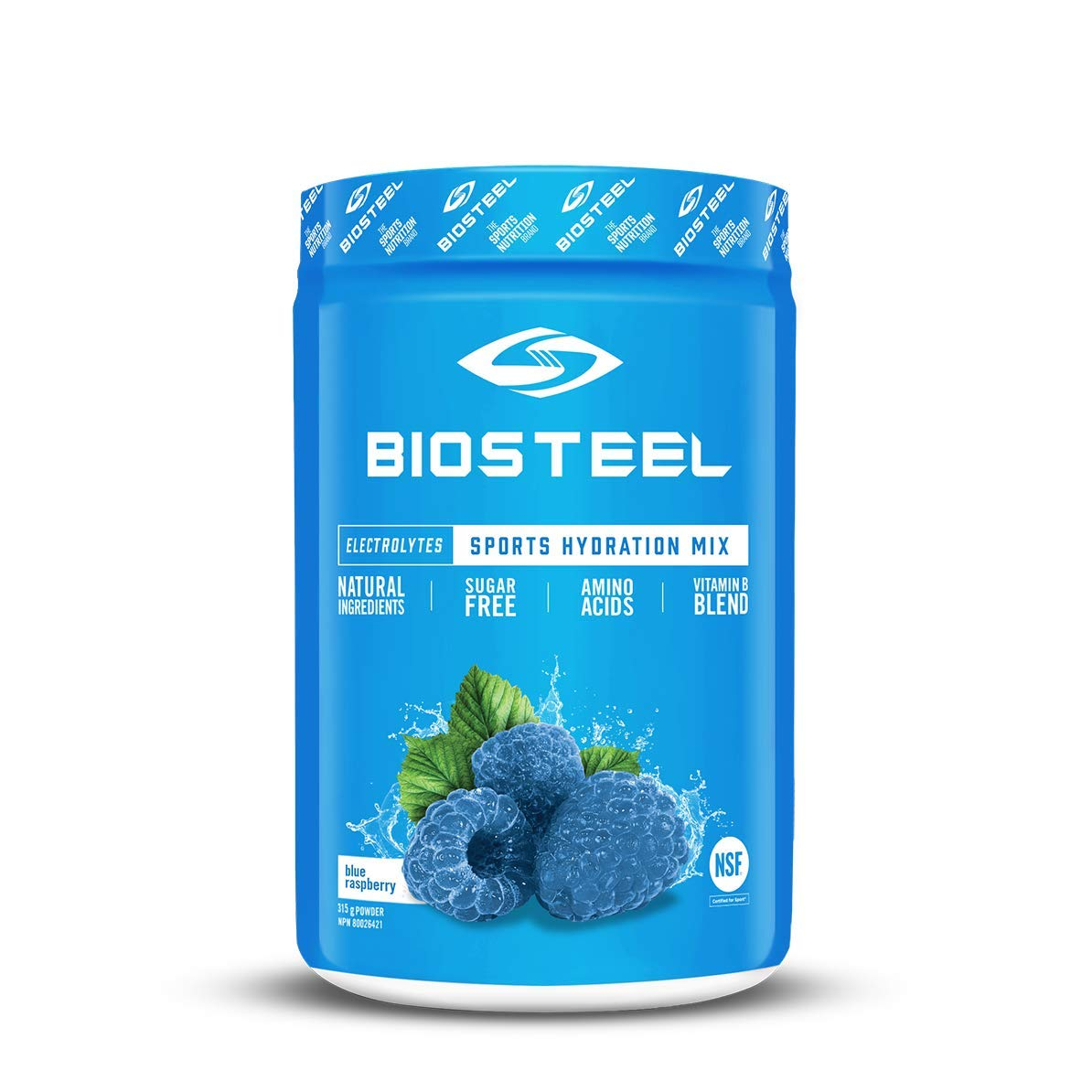Biosteel High Performance Sports Drink Powder, Naturally Sweetened with Stevia, Blue Raspberry, 315 Gram