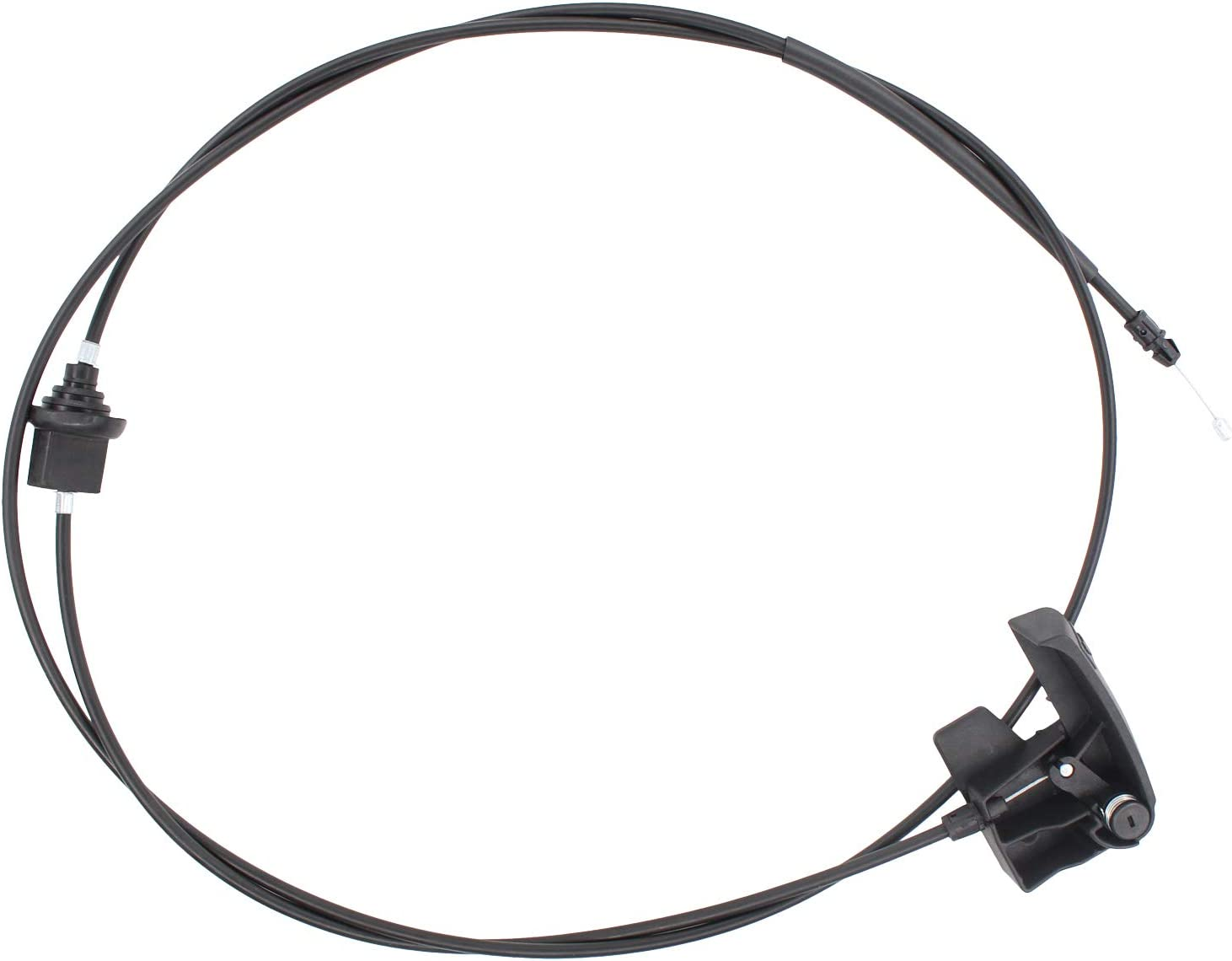 XtremeAmazing Front Hood Release Cable Compatible with GMC Chevy Cadillac Sierra Pickup Truck