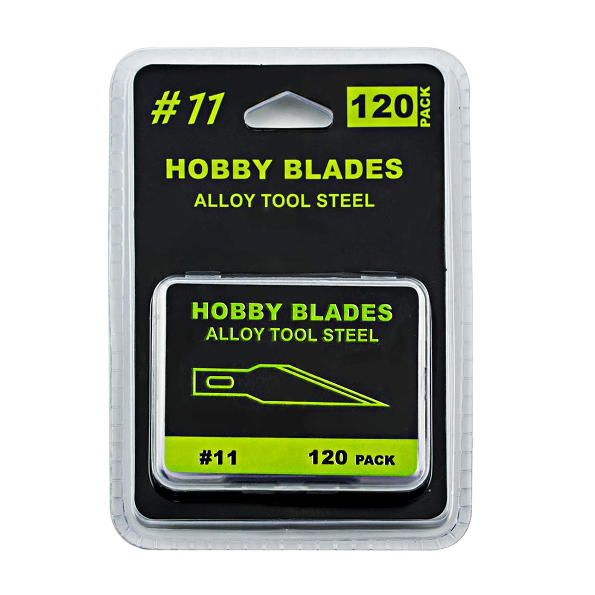 #11 Hobby Knife Blades (Pack of 120) Art Blades Cutting Tool with Storage Case for Craft, Hobby, Scrapbooking, Stencil