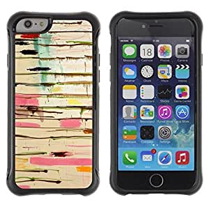 iArmor Hybrid Anti-Shock Defend Case / Abstract Paint Drip Art Pollock Lines / Apple Iphone 5s