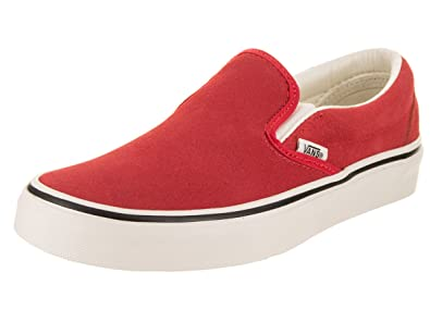 cab8b0f5d6 Image Unavailable. Image not available for. Color  Vans Unisex Classic Slip-On  (Suede) Hibiscus True White Skate Shoe 4.5
