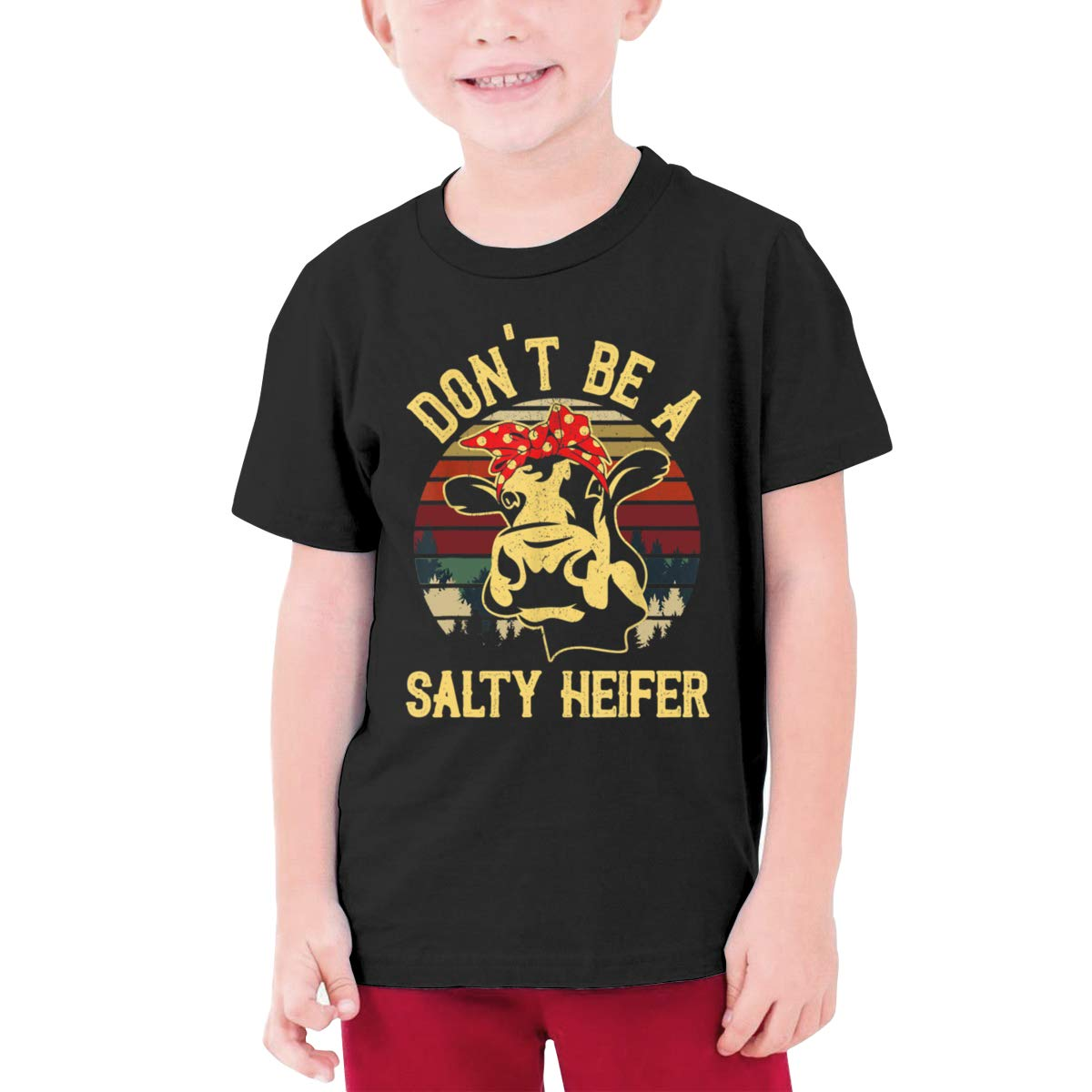 Fzjy Wnx Dont Be A Salty Heifer Boys Short Sleeve Shirts