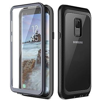 Prologfer Funda para Samsung Galaxy S9 360 Grados Transparente Carcasa Resistente con Protector de Pantalla incorporada Prueba de Golpes y Suciedad ...