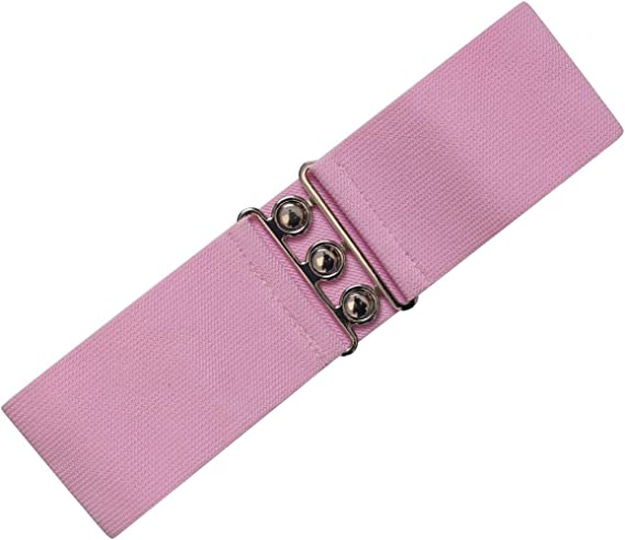 Ro Rox Vera 1950s Vintage Retro Pin-Up Wide Stretch Elasticated Satin Bow Belt