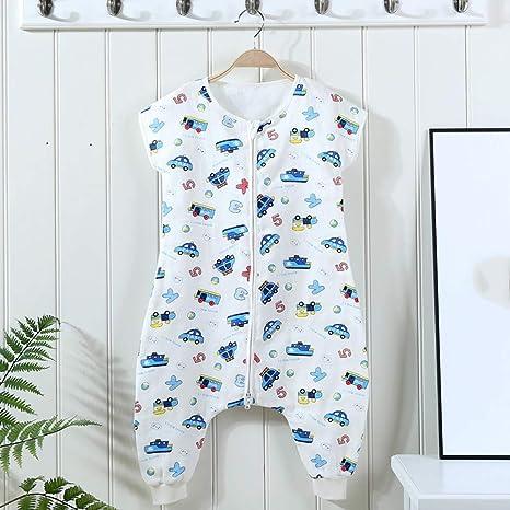 fe8f4e0b0cce1 Coton Gigoteuse Fille et Garçon,Bébé Manches Courtes Combinaison Fille  Garçon Douillette Coton Pyjama Sac