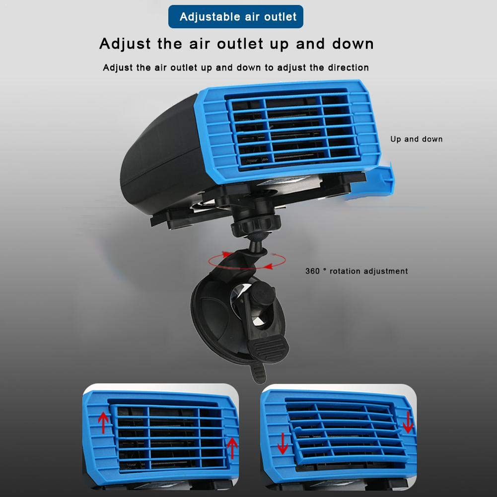 24V Calentador de Ventilador Giratorio de 360 Grados para calefacci/ón descongelador de autom/óvil de calefacci/ón r/ápida de 12V descongelaci/ón y desempa/ñado farmer-W Calentador port/átil Coche