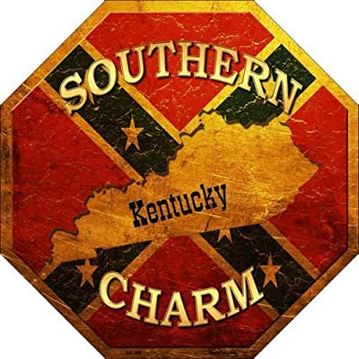 Southern Charm Kentucky Metal Novelty Stop Sign BS-368