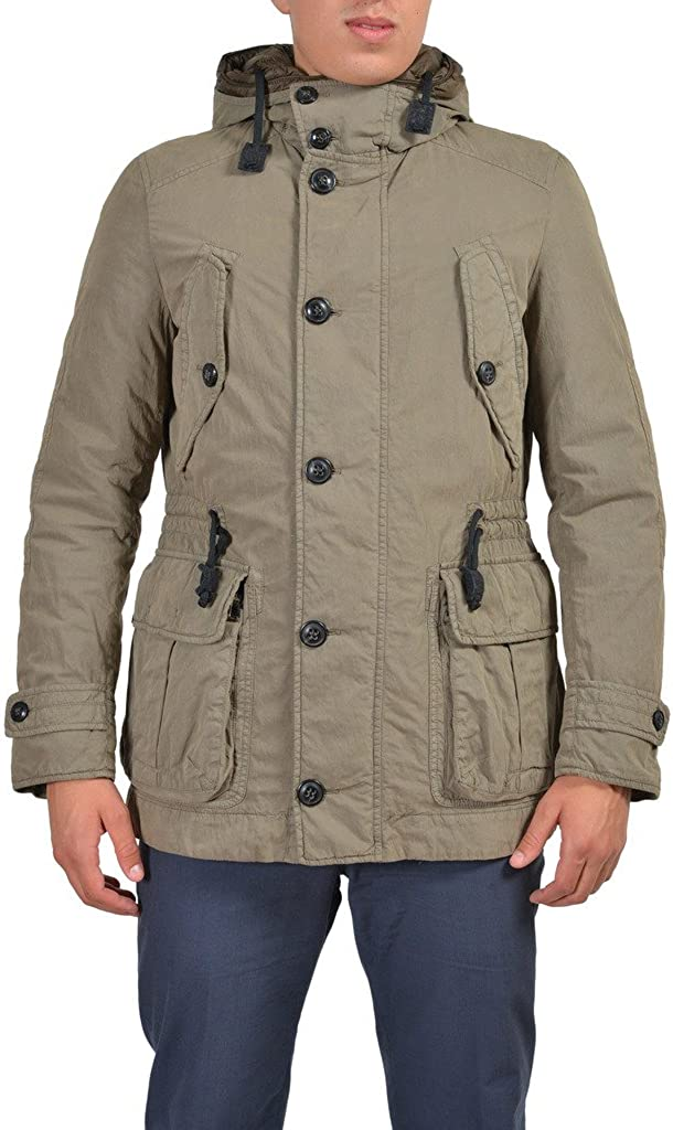 Ballantyne Beige Full Zip Hooded Insulated Parka Jacket
