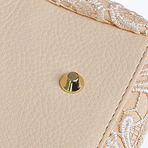 Afco Small Retro Lace Designer Faux Leather Women's Handbag