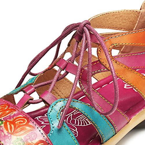 Dunlop Della Punta Rosso Stile Strass 37 Infradito Scarpe 2 Con Viola Sandali Gracosy Marrone Boemia Suola Taglia Spiaggia Donna Da Comoda In Estate Pelle 2019 Piatti 42 ROZw6qa