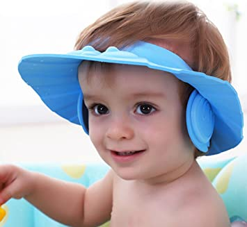 doutree protección segura Champú Ducha Baño Baño Cap suave ajustable visera  gorro para Niños Bebé 58bf0f4b7a0