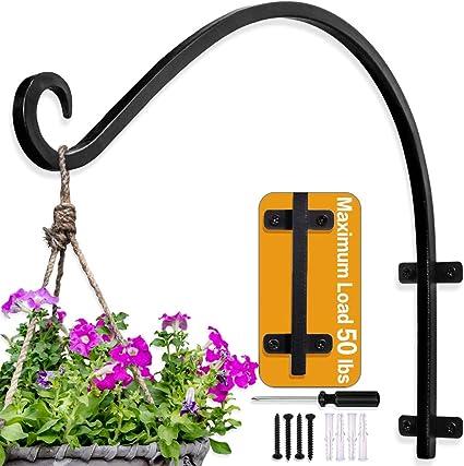 Hanging Plant Bracket 4 Pack Metal Plant Hooks for Hanging Baskets Including#42