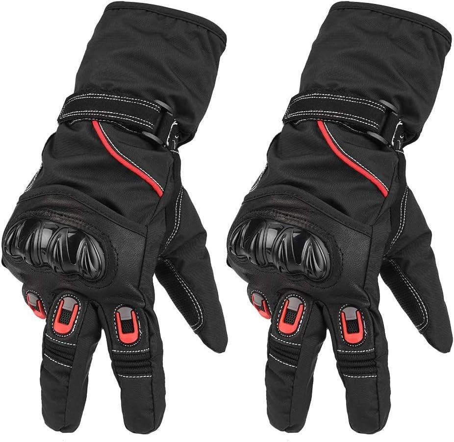 Motorr/äder und Motorr/äder. 2 St/ück Vollfinger-Anti-Rutsch-Finger-Touchscreen-Handschuhe Racing Schutzhandschuhe f/ür Biker KIMISS Winter wasserdichte Motorradhandschuhe