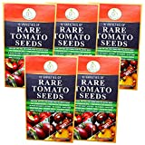 HEIRLOOM TOMATOS SEEDS NON GMO - Includes Brandywine - Black Krim - Cherry Purple Etc. Indeterminate Up to Beefsteak Sizes - 10 Best Rare USA Grown Varieties of Fun Easy to Grow Mouthwatering Tomatoes