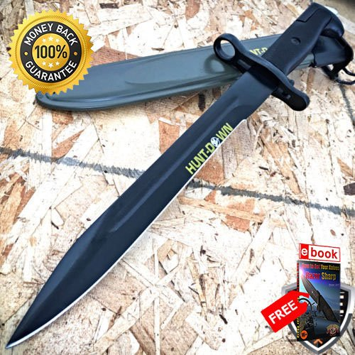 14'' M1 US RIFLE Military Bayonet Tactical Combat Hunting Knife Survival Rambo For Hunting Tactical Camping Cosplay + eBOOK by MOON KNIVES 14' Survival Knife