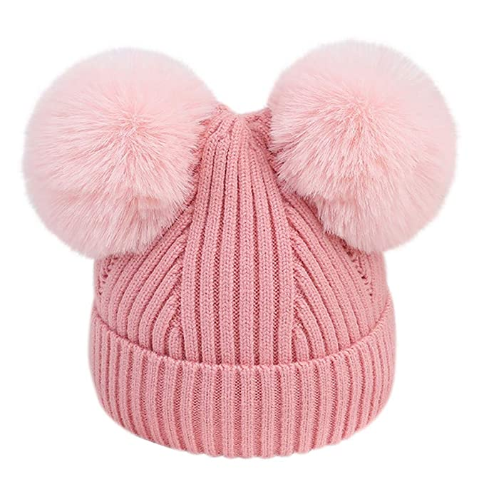 Geetobby Cute Children Fisherman Hat Baby Girl Knitted Wool Dome Cap Winter Warm