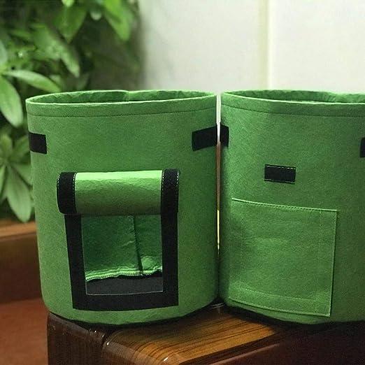 Adolenb Bolsa de planta de jardín contenedor de procesamiento de vegetales para el cultivo de papa herramienta de jardín bolsa de planta de jardín: Amazon.es: Jardín