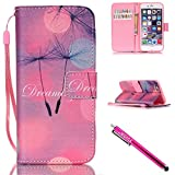 Sunscreen Clear 7000 iPhone 6S Case, iPhone 6 Wallet Case, Firefish [Kickstand] PU Leather Flip Purse Case Slim Bumper Cover with Lanyard Magnetic Skin for Apple iPhone 6/6S 4.7