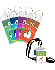 Cruise Luggage Tags Holders, 4 Pack Cruise Tags & 2 ID Badge Holder Zip Seal and Reusable Steel Loops for Royal Caribbean, Celebrity Cruise Ships